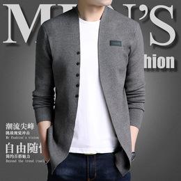针织开衫男青年春秋新款韩版潮流毛衣外搭线衫修身薄款帅气男外套