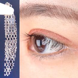 胶水升级  蕾丝双眼皮贴隐形 网状自然肤色隐形网镂空不反光肤色