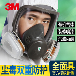 3M 6800防毒全面具 全面罩 喷漆甲醛有机气体面具化工酸碱气防护