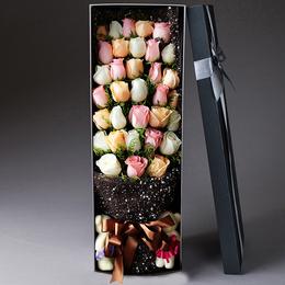 鲜花速递同城红玫瑰花束礼盒生日北京上海广州深圳南京花店配送花
