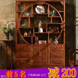 红木博古架实木中式隔厅花梨木玄关柜客厅隔断家具刺猬紫檀多宝格