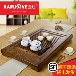 KAMJOVE/金灶 鸡翅木实木整套茶盘 古典功夫茶具茶台茶海