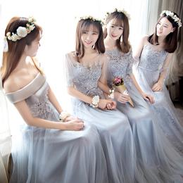伴娘服长款2018新款韩式修身伴娘礼服伴娘团礼服姐妹裙宴会晚礼服