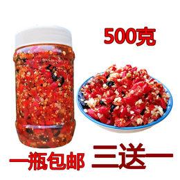 海大哥江西特产农家自制手工剁椒蒜蓉豆豉辣椒酱下饭菜超特辣500g