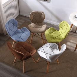 北欧伊姆斯餐椅洽谈书桌椅靠背凳子接待电脑现代简约懒人家用椅子