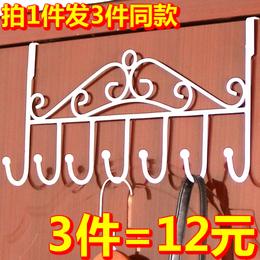 门后挂钩免钉门上挂衣架毛巾架门背式置物架无痕衣帽架壁挂衣服架