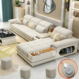 简约布艺沙发大小户型现代客厅转角布沙发组合整装时尚家具可拆洗