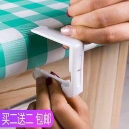 台布固定夹餐桌布夹收纳夹子防风夹子桌脚夹板扣铺布夹防滑塑料夹