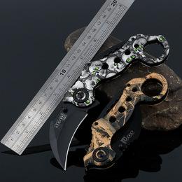 战狼魔蝎子爪刀开刃折叠高硬度防身战术荒野求生随身小刀户外刀