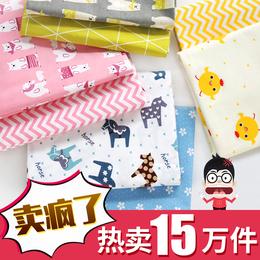 纯棉布料宝宝斜纹面料儿童床品被套卡通棉布婴儿床单布头清仓处理