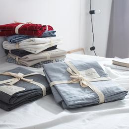日式良品水洗棉床单单件 纯棉双人被单学生宿舍全棉布1.5米1.8m床