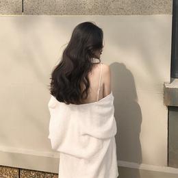 港味复古chic2018新款防晒薄款针织衫女装宽松中长款开衫毛衣外套