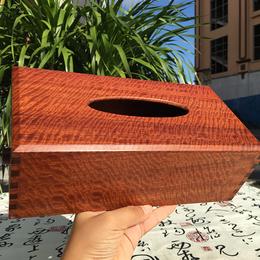 红木纸巾盒缅甸花梨木金线水波纹大果紫檀抽纸盒客厅纸抽榫卯特价