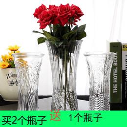 玻璃花瓶水培容器养富贵竹子透明特大号花瓶百合客厅插花装饰摆件