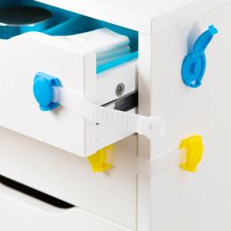 居家家宝宝防夹手搭扣抽屉锁儿童柜门防护锁防开冰箱安全锁马桶锁