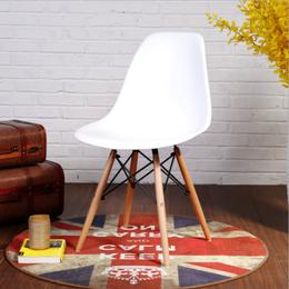 伊姆斯椅现代简约创意洽谈办公椅北欧餐椅休闲家用靠背实木书桌椅