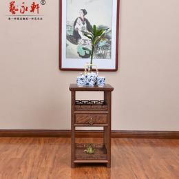 红木家具鸡翅木长城茶几明清古典茶台中式茶桌实木边几花梨木角几