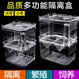 孔雀鱼繁殖盒鱼缸亚克力隔离盒特大号产卵孵化产房小鱼苗幼大小鱼