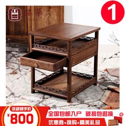 包邮红木家具实木边几角几茶几中式实木简约茶台鸡翅木仿古小茶桌