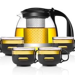 唯成玻璃泡茶壶耐高温过滤茶壶茶具家用泡茶杯套装泡茶器防爆水壶