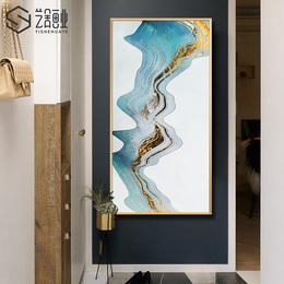 艺舍画业 现代玄关过道抽象装饰画 客厅大幅挂画样板房中式晶瓷画