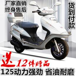 全新五羊公主本田款男女式踏板摩托车125cc燃油助力车 可上牌包邮