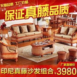 真藤沙发家具客厅藤沙发组合客厅藤椅茶几五件套藤编沙发藤艺沙发