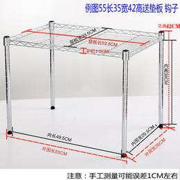 厨房微波炉置物架一层不锈钢色烤箱架锅架可调隔层橱柜分层架定做