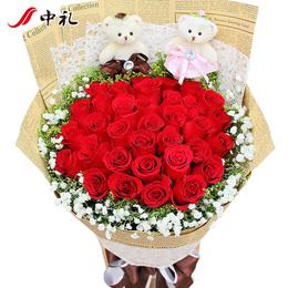 全国送花深圳生日鲜花速递同城北京上海红玫瑰花束广州杭州送花店