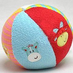超柔软刺绣摇铃布球 儿童益智宝宝玩具