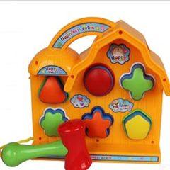 益智儿童欢乐小屋敲打台 打桩台