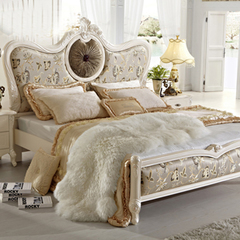 现货卡伊莲家具 法式田园床 欧式床 1.8米双人床 布艺床 新古典床