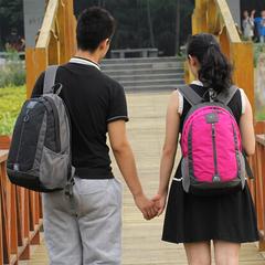 七匹狼双肩包 情侣大小款书包男女背包 潮韩版旅行包电脑包包