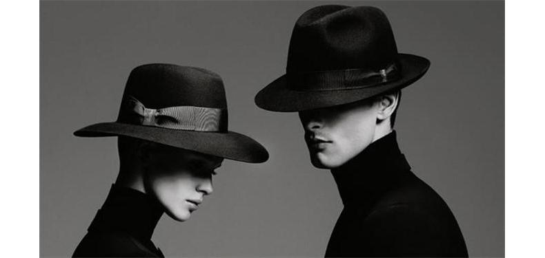 YARCH新款羊毛呢礼帽圆顶英伦男帽子黑色礼帽秋冬季时尚爵士帽潮
