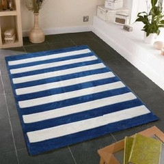 蓝白相间地毯