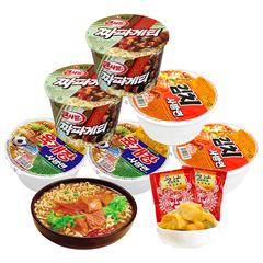 韩国进口农心辣白菜牛肉炸酱碗面盒装