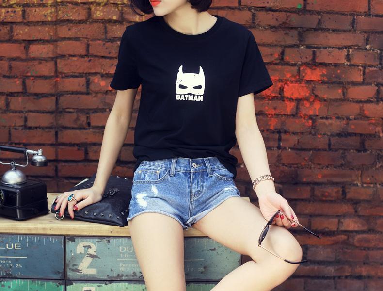 画骨原创 夏季低腰超薄款女牛仔短裤 潮 破洞卷边超短女牛仔热裤