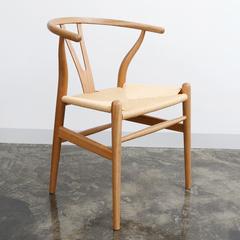简约白橡木Y chair