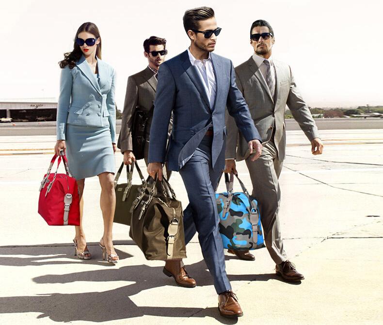 贵革大容量短途旅行包男手提旅行袋女商务行李包行李袋单肩旅游包