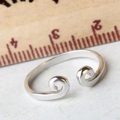 纯银尾戒 女款 爱的紧箍咒 韩版小巧简约可爱开口戒指环礼物