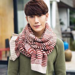 男士混纺毛线围脖秋冬保暖混色超长针织加厚围巾