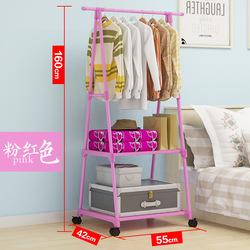 卧室衣架落地挂衣架创意衣服架多功能简易衣帽架可移动挂衣架家用淘宝优惠券