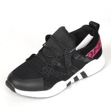 正品稳步7723女鞋子新款透气网布休闲鞋字母绣花松紧带平底运动鞋