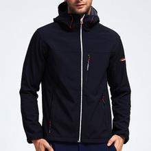 探路者男装新款户外运动防风加绒加厚软壳衣抓绒外套HAEF91259