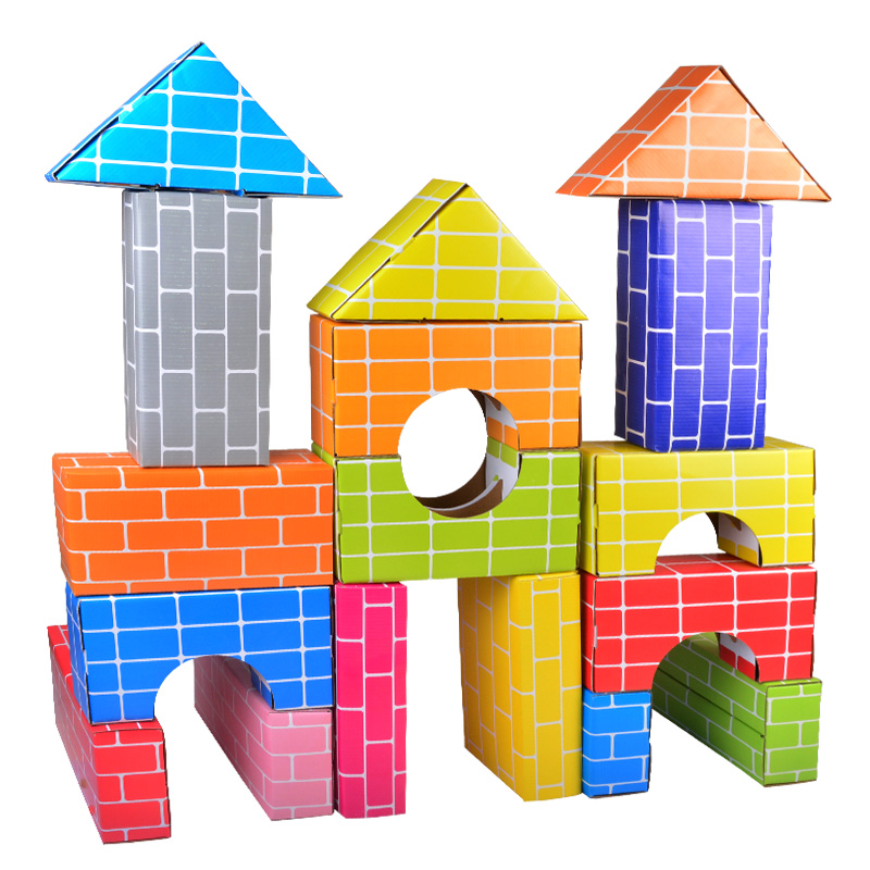 积木仿真建构材料玩具纸砖玩具布置环境幼儿园搭建区玩具幼儿建构狗狗儿童制作图片