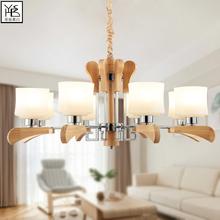 木艺客厅大吊灯守颈迸反匆獯笃灯饰日式榻榻米木质LED家装 灯具