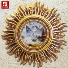 尚凡玄关装饰画欧式客厅太阳挂画 抽象餐厅壁画 手绘古典风景油画
