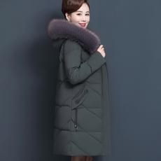 中长棉袄女 外套中老年棉衣女装 洋气棉服大码 妈妈冬装 羽绒服妈妈款