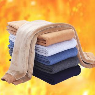 冬季中大童羊毛裤绒裤男孩女孩保暖裤加厚加绒棉裤小孩打底裤线裤