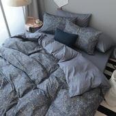 简约纯棉四件套全棉1.5 1.8m床上用品单双人三4件套纯棉床单被套